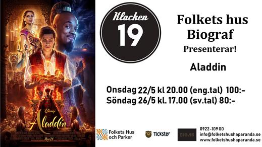 Bild för Aladdin (live action) (Eng. tal), 2019-05-22, Biosalongen Folkets Hus