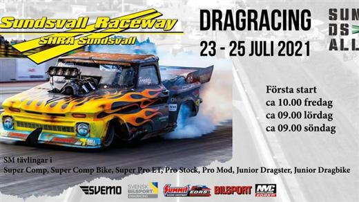 Bild för Dragracing 23-25 Juli 2021, 2021-07-23, Sundsvall Raceavay