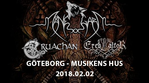 Bild för Månegarm, Cruachan, Ereb Altor i Göteborg, 2018-02-02, Musikens Hus