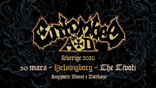 Bild för ENTOMBED AD, BAEST (DK), DARKANE, 2020-03-20, The Tivoli