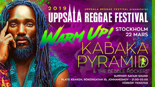 Bild för Kabaka Pyramid URF Warm Up Stockholm, 2019-03-22, Kraken, Slakthusområdet Stockholm