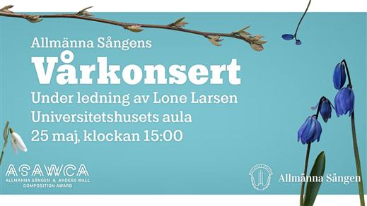 Bild för Vårkonsert med Allmänna Sången, 2019-05-25, Uppsala universitets aula