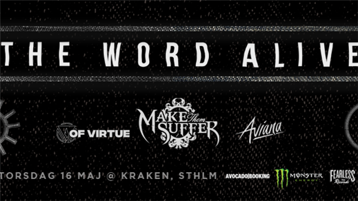 Bild för The Word Alive, Make Them Suffer, Of Virtue mfl., 2019-05-16, Kraken