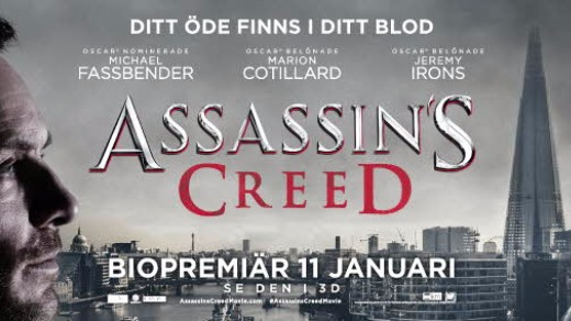 Bild för Assassin's Creed(15år,115min), 2017-01-11, Metropolbiografen