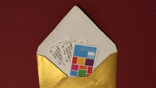 Bild för Presentkort Riksteatern Norrköping, 2021-01-01, Presentkortet är giltigt vid alla våra arrangemang på olika scener