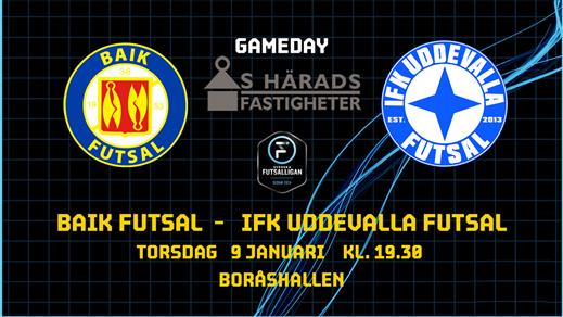 Bild för BAIK Futsal - IFK Uddevalla Futsal, 2020-01-09, Boråshallen