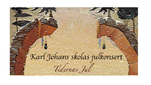 Bild för Karl Johans Skolas Julkonsert 2018 18:30, 2018-12-01, Conventum Kongress