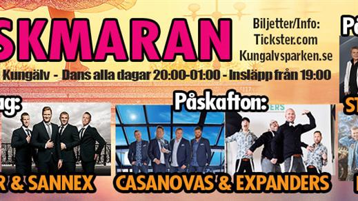 Bild för Påskmaran dag 2 Påskafton Casanovas & Expanders, 2018-03-31, Mimershallen, Kungälv