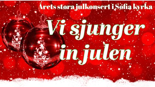 Bild för Vi sjunger in julen kl 15, 2018-12-15, Sofia kyrka