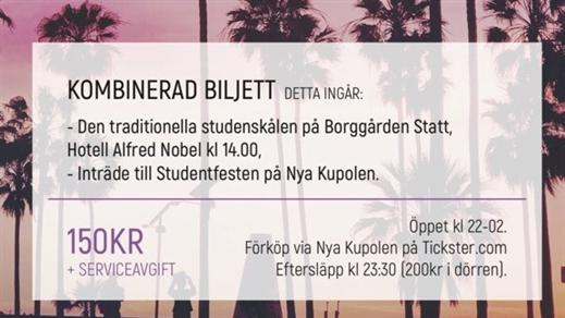 Bild för Studentfesten 2018, 2018-06-15, Nya Kupolen