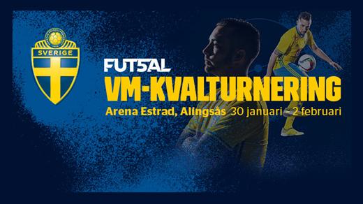 Bild för VM - Kval Futsal 2019, 2019-01-30, Estrad i Alingsås