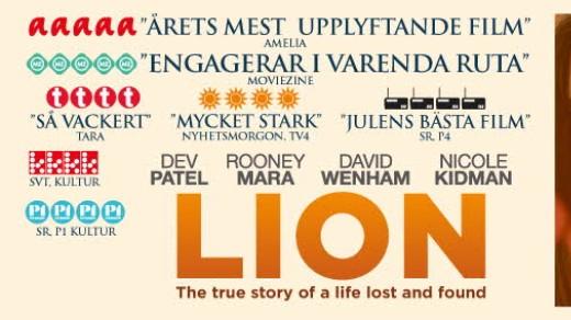 Bild för Lion(11år,119 min), 2017-01-15, Metropolbiografen