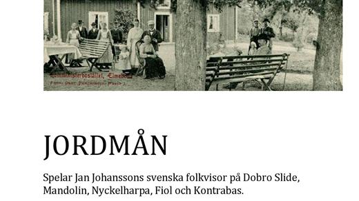Bild för Jordmån - Jazz på svenska, 2019-09-26, Rörvikskyrkan