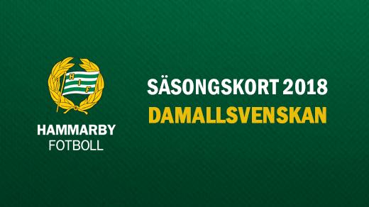 Bild för Säsongskort Damallsvenskan 2018, 2018-04-14, Hammarby IP (Kanalplan)