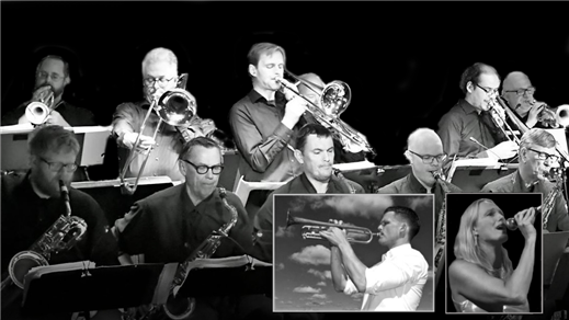 Bild för Uppland Big Band, Frida & Karl Olandersson, 2019-04-23, Teaterstudio Lederman