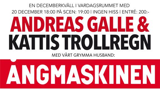 Bild för Andreas Galle & Kattis Trollregn, 2018-12-20, Folkets Hus Uddevalla Vardagsrummet