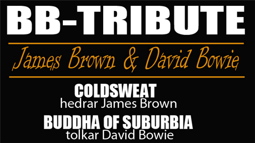 Bild för BB TRIBUTE - JAMES BROWN & DAVID BOWIE 21/9, 2017-09-21, Apollon, Folkets Hus Kulturhuset