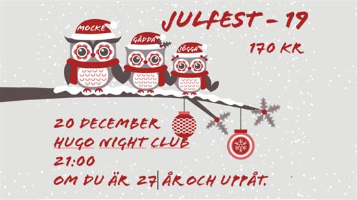 Bild för Bomulls Julfest 2019, 2019-12-20, Hugo Nattklubb