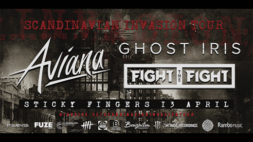 Bild för Aviana + Ghost Iris + Fight The Fight, 2018-04-13, Sticky Fingers