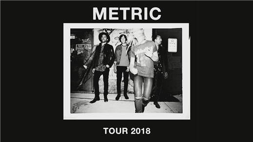 Bild för METRIC Tour 2018, 2018-10-27, Kägelbanan Södra Teatern
