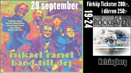 Bild för Mikael Ramel Band@RockBåten M/S Harmony, 2017-09-29, RockBåten M/S Harmony