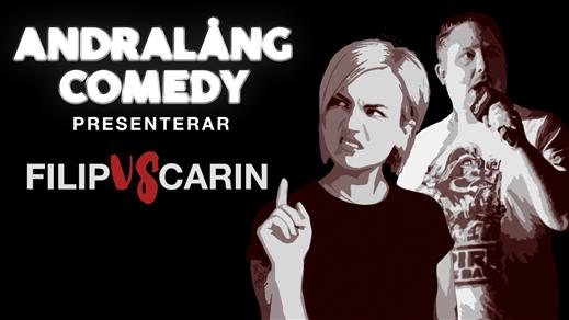 Bild för Andralang Comedy presenterar Filip vs Carin, 2020-08-31, The Abyss Gothenburg