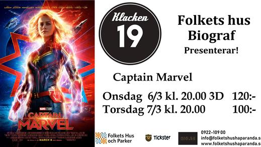 Bild för Captain Marvel 3D, 2019-03-06, Biosalongen Folkets Hus