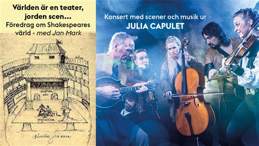 Bild för JULIA-konsert med Shakespeare-föredrag, 2020-07-11, Lilla Beddinge Teater