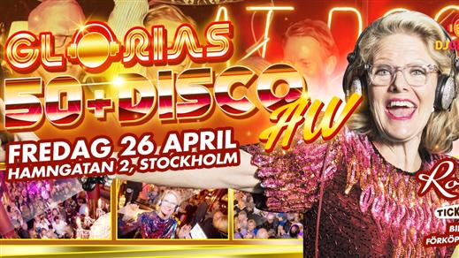 Bild för Glorias 50+ DISCO AW Stockholm 26 apr 2019, 2019-04-26, Rose Club