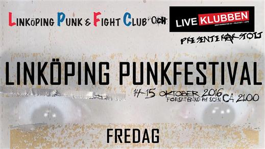 Bild för Linköpings punkfestival Fredag, 2016-10-14, Palatset