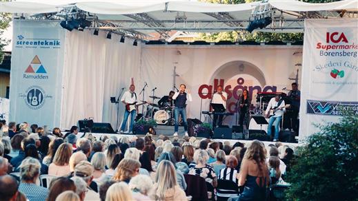 Bild för Allsång på Gästis, 2019-07-25, Borensbergs Gästgivaregård