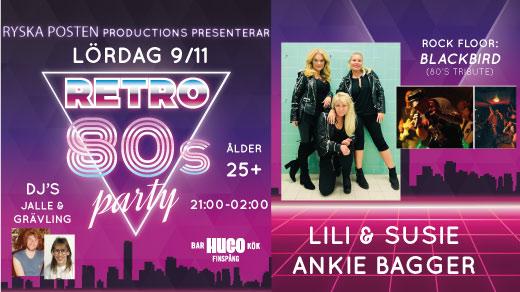 Bild för 80-tals fest - LILI & SUSIE, ANKIE BAGGER m.m., 2019-11-09, Hugo Finspång