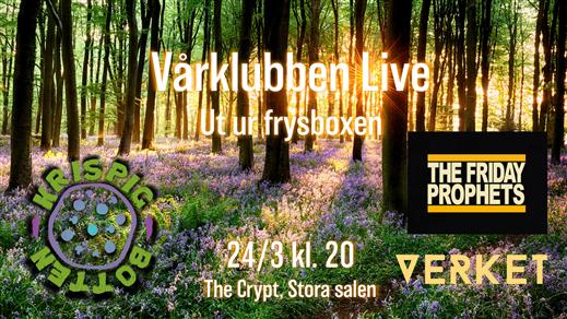 Bild för The Friday Prophets + Krispig Botten + Verket, 2018-03-24, The Crypt