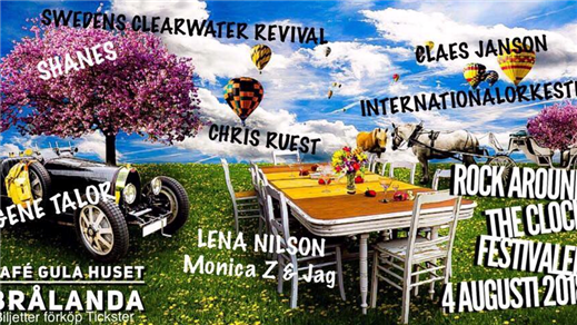 Bild för Rock Around The Clock Festivalen, 2018-08-04, Café Gula Huset
