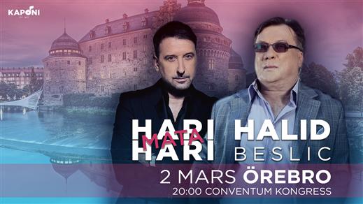 Bild för Halid Beslic & Hari Mata Hari - Örebro, 2019-03-02, Conventum Kongress