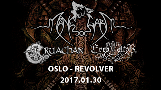 Bild för Månegarm, Cruachan, Ereb Altor i Oslo, 2018-01-30, Revolver