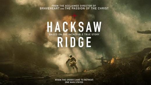 Bild för Hacksaw Ridge (Sal.3 15år Kl.18:30 2h 19m), 2016-11-23, Saga Salong 3