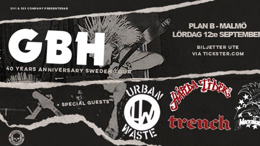 Bild för GBH / Urban Waste / Hårda Tider + support, 2020-09-12, Plan B