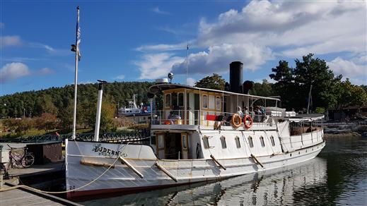 Bild för Båtturer Mälsåkers slott sommaren 2021, 2021-07-02, Båtresa med ångfartyget Ejdern till Mälsåkers slott