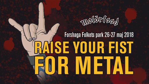 Bild för Raise your fist for metal, 2018-05-26, Forshaga Folkets park