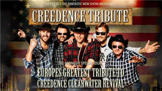 Bild för CREEDENCE TRIBUTE-ROCKING ALL OVER THE WORLD 4/12, 2020-12-04, Hebeteatern, Folkets Hus Kulturhuset