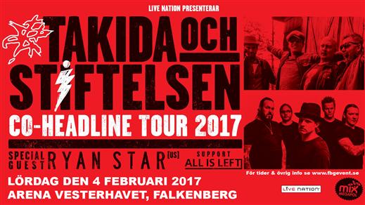 Bild för Takida & Stiftelsen plus supportband, 2017-02-04, Arena Vesterhavet