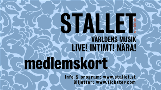 Bild för Medlemskap Stallet 2019, 2018-11-01, Stallet - Världens Musik