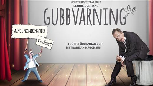 Bild för Lennie Norman – Gubbvarning Live!, 2019-03-09, Teatersalongen Folkets Hus Degerfors