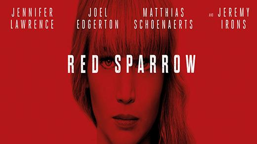 Bild för Red Sparrow (15 år), 2018-03-04, Biosalongen Folkets Hus