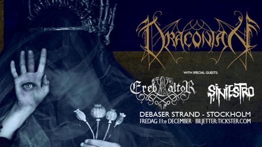 Bild för Draconian / Ereb Altor / Siniestro, 2020-12-11, Debaser Strand