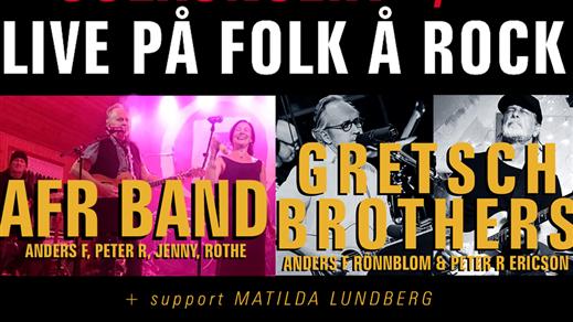 Bild för Anders F Rönnblom + Incredible Gretsch Brothers, 2019-12-07, Folk Å Rock