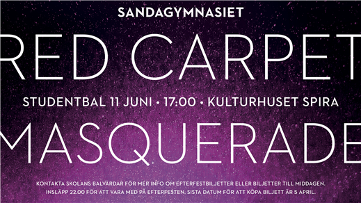 Bild för Studentbal sandagymnasiet 11 juni 2018, 2018-06-11, Kulturhuset Spira