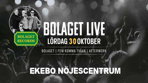 Bild för Bolaget Records -LIVE, 2021-10-30, Ekebo Nöjescentrum