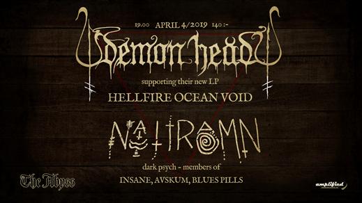 Bild för Demon Head + Nattramn at The Abyss, 2019-04-04, The Abyss Gothenburg
